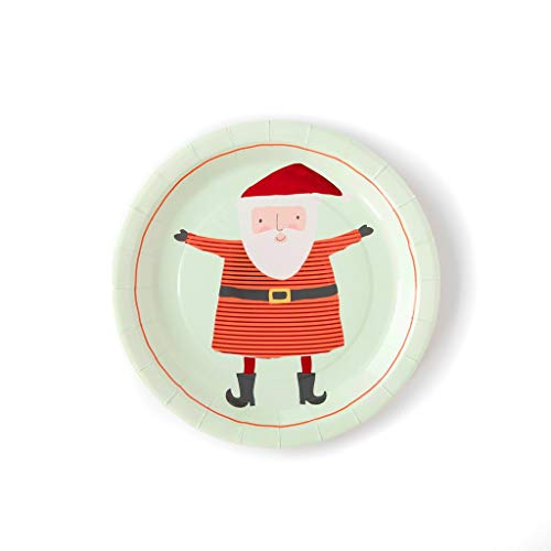 Christmas Plates Christmas Party Table Decorations Paper Plates Dinner Plates Dessert Santa 9