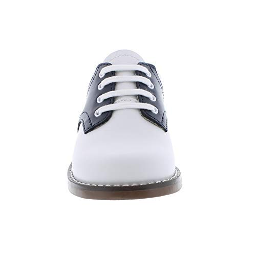 FOOTMATES Cheer Laceup Saddle White/Navy - 8401/13 Little Kid M/W by FOOTMATES (Image #4)