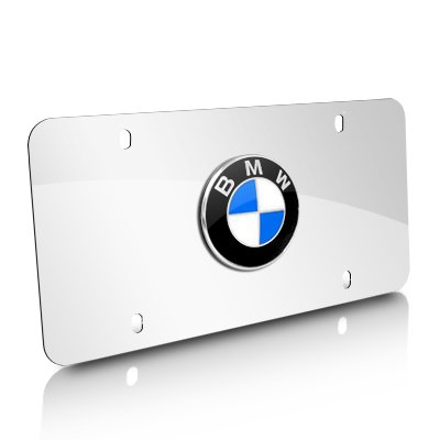 BMW Polished Stainless Steel License Plate