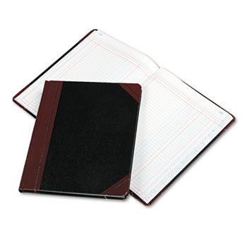 Boorum & Pease 2 Column Book, 150 Pages, 10-3/8''x8-1/8, Black