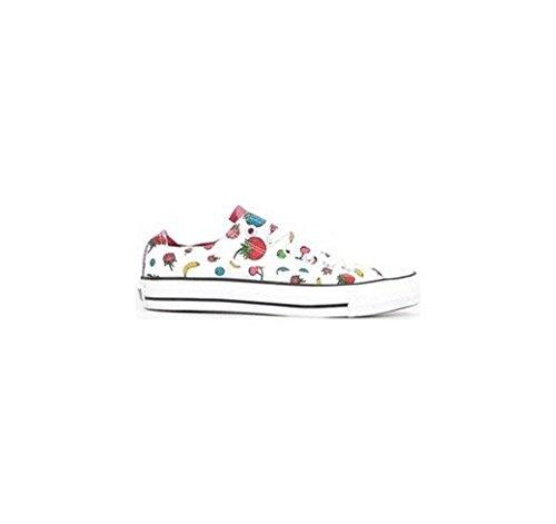 Star Basses Bianco C Blanc Chaussures Tissu Avec Imprimé Converse 131086c Summer pqwUxHH