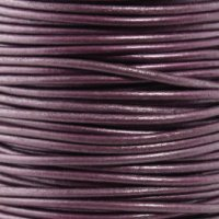 - #64 Metallic Berry Round Leather Cord 1.5mm (1/64