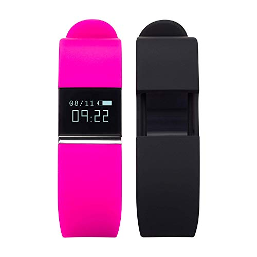 (iTouch Quartz Fitness Watch with Rubber Strap, Pink, 20 (Model: IFT2436BK668-338))