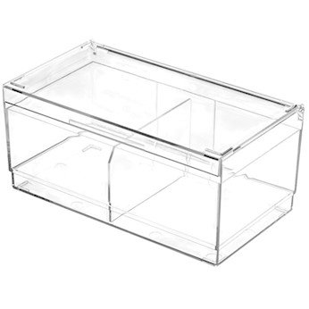 Cole-Parmer Laboratory Storage Box with Removable Divider, PC, Autoclavable
