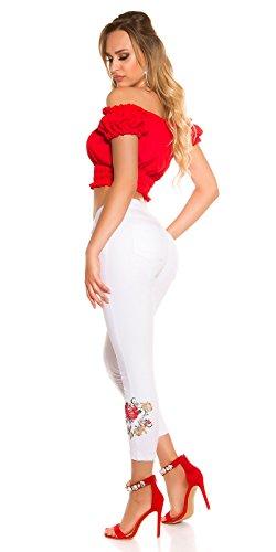 New Vaqueros Blanco Mujer Para Play rFPwYr