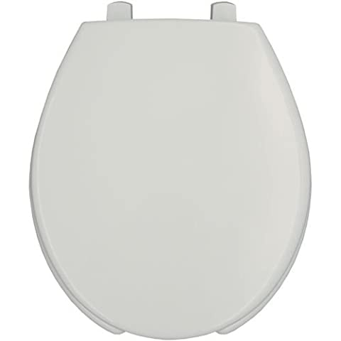 Bemis 3L2050T Medic-Aid Round Plastic Open Front Toilet Seat with STA-TITE&, White - Bemis Round Open Front