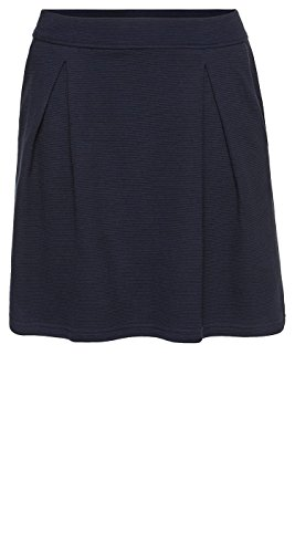 Tom Tailor Denim für Frauen Skirt ausgestellter Midi-Rock real navy blue XXS