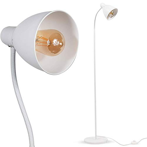 - Wallniture Adjustable Reading Floor Lamp with Foot Control On Off Switch White (2 Pack) ...