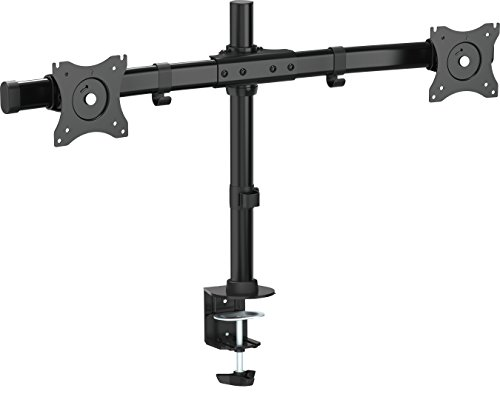 VIVO Dual Monitor Curved Horizontal Array Desk Mount Stand fits Screens up to 27