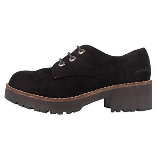 Mujer Coolway para de Cherblu Cordones Zapatos Negro Oxford SYTT7awx