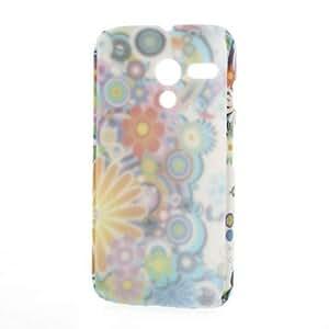 Motorola Moto G DVX XT1032 Colorful Flowers Plastic Case Cover