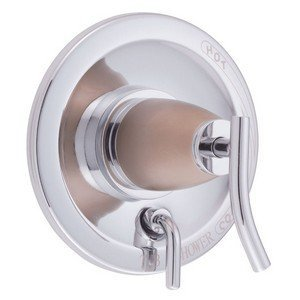 Danze D500454CSNT Sonora Shower Valve Escutcheon Trim Kit with Diverter, Chrome with Satin Nickel, Valve Not Included by Danze