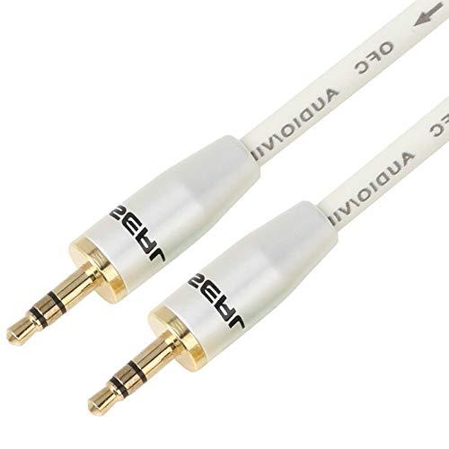 Choseal Cable alargador para Auriculares DE 3,5 mm Macho a Hembra, Cable Auxiliar de Audio para computadora y teléfono...