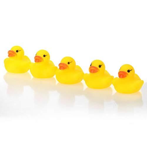 Slendima 10 Pcs 1.57'' Lovely Baby Kid Bath Time Duck Toys Soft Plastic Cute Yellow Ducks Beach Toy by Slendima (Image #5)