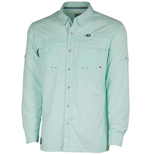 Mossy Oak Men's Men's Long Sleeve Performance Fishing Shirt, Soothing Sea, 3X-Large ()