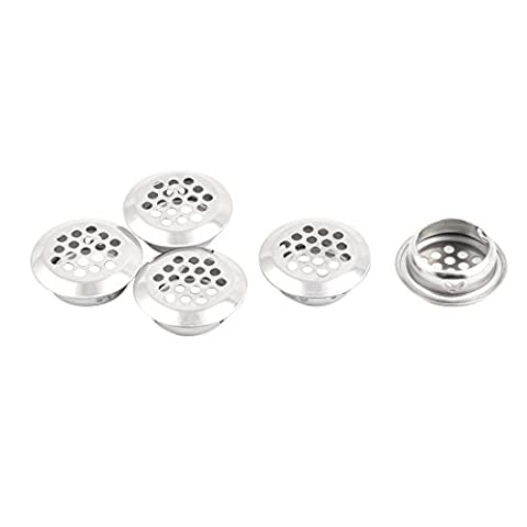 uxcell Stainless Steel Kitchen Bathroom Round Mesh Hole Sink Strainer Filter 5pcs Silver Tone - Round Hole Strainer