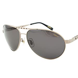 Chopard SCH B01M Men Titanium Matte Satin Palladium Polarized Aviator Sunglasses