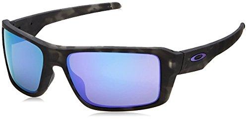 - Oakley Men's Double Edge Non-Polarized Iridium Rectangular Sunglasses, Matte Black Tortoise, 66 mm
