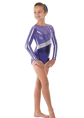 viola argentate Tappers metallizzato da con brillante strisce Viola amp; Pointers ginnastica femminile Body wpZ7wvq