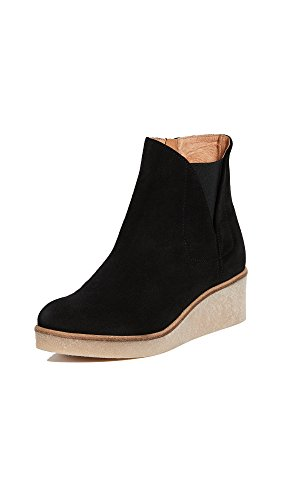 Mat Bernson Womens Frieze Wedge Booties Zwart
