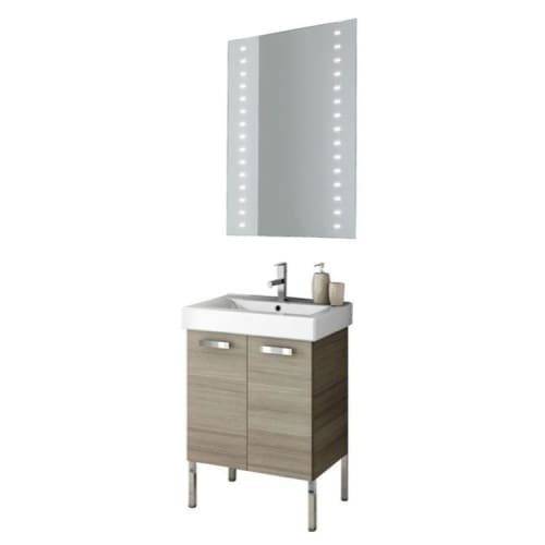 Nameeks C106 ACF 22″ Wall Mounted Vanity Set with Wood Cabinet, Ceramic Top with, Larch Canapa