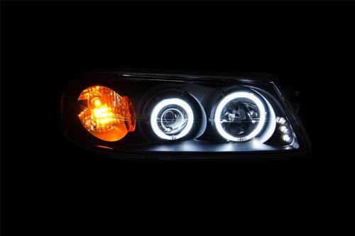 AnzoUSA 121289 Black Clear//Amber Projector Halo Headlight for Chevrolet Impala Sold in Pairs Anzo USA