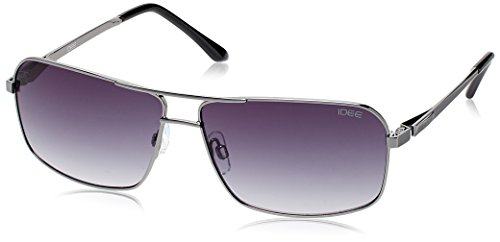 IDEE Rectangular Sunglasses (IDS1846C2SG|100|Black )