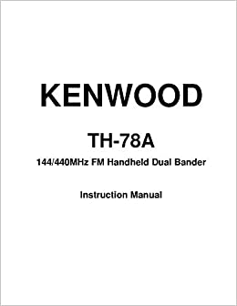 kenwood th 78a manual