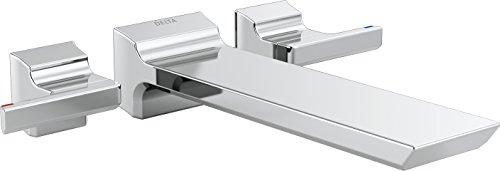 Delta Faucet T5799-WL Pivotal Wall Mount Tub Filler Trim, Chrome - Chrome Tub Wall Mount Faucet