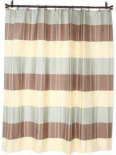 Croscill Stripes Curtain - Croscill Fairfax Shower Curtain, 72 by 72-Inch, Taupe
