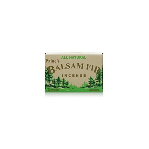 40 BALSAM FIR STICKS plus wood burner Paine/'s lodge style SACHET scent pine log