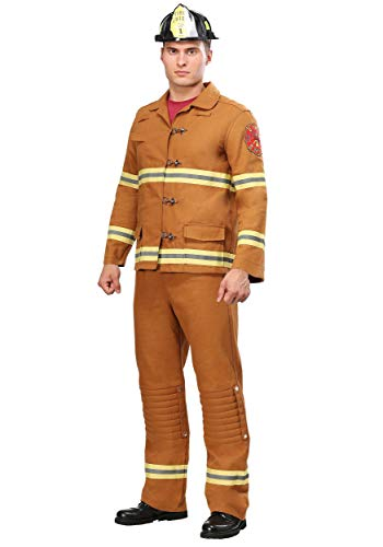 Tan Firefighter Uniform Mens Costume X-Large]()