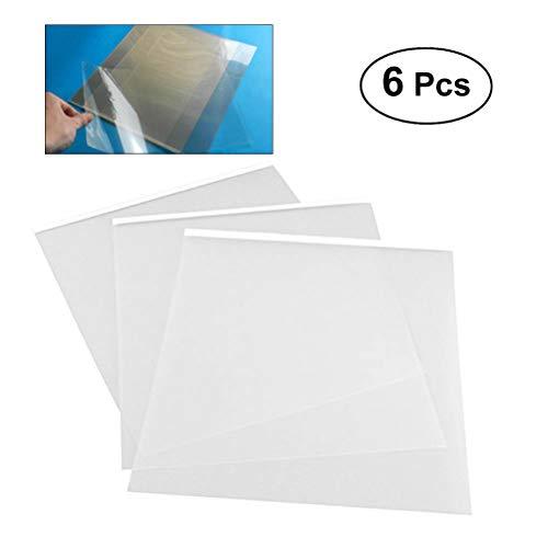 Inkjet Film 6PCS 29.7 21 cm A4 Transparent Ink Jet Adhesive Film Waterproof Transparency Silk Screen Film