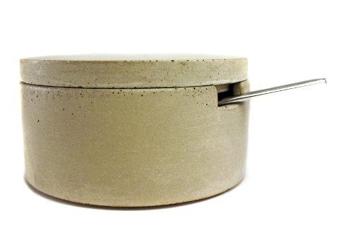 Culinarium - Large Concrete Salt Cellar with scoop - (Living Kitchen Salt)