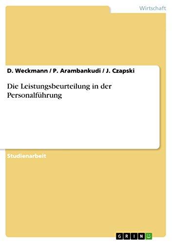 Amazon.com: Die Leistungsbeurteilung in der Personalführung (German ...