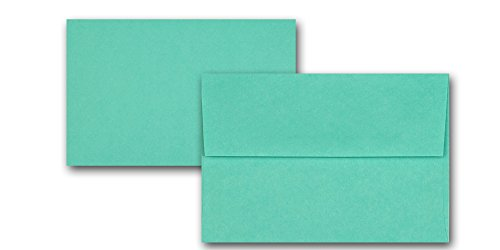 (PT Premium Half Letter 285 GSM Flat Cards with Matching Envelopes - A-9 Flat Card Set - 50 Pack - Great for Printing, DIY Invites, Announcement Sets, and More! Made in the U.S.A. (Blue Raspberry))