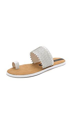 Matt Bernson Women's Crane Toe Ring Sandals, White, 10 B(M) US