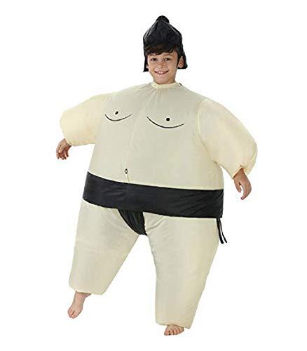 JOHNZZ Inflatable Kids Sumo Wrestler Wrestling Suits Halloween Costume]()