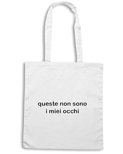 MIEI QUESTE Bianca I NON Shopper SONO Borsa OCCHI Speed Shirt TDM00229 wqOzXxgt