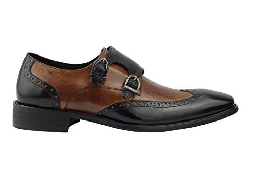 Xposed, Scarpe stringate uomo multicolore nero/marrone