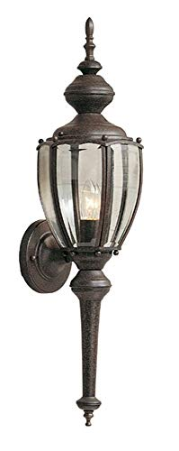 Designers Fountain 1273-RP One Light Outdoor Wall Lantern, Rustic Patina Finish with Clear Glass