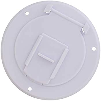 Dumble Round Electric Cable Hatch for 30 Amp RV Electric Cord – RV Camper Electric Cord Cover, White