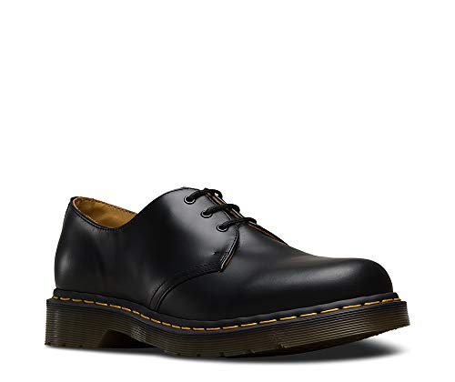 Smooth Para Martens Hombre Black De Cordones Zapatos Dr Black 1461pw qSangUnT