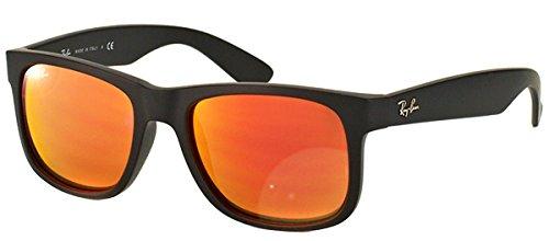 Ray-Ban Justin Orange Mirror Sunglasses RB 4165 622/6Q 51mm + SD Glasses + - Ban Ray Small Justin