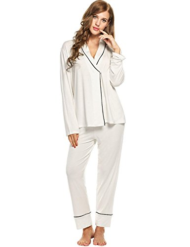 Skylin Women's Velour Long-Sleeved Top and Pants Set Sleepwear with Belt (White, XXL) - Long Sleeved Velour Pant