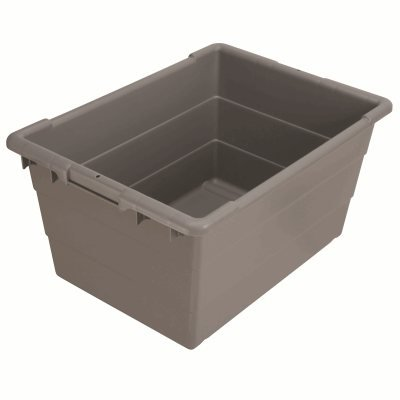 "Cross-Stack Akro-Tubs 24"" x 17"" x 12"", Grey (6 Case)"
