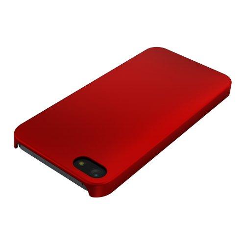 iBUFFALO New iPhone(2012年)用 ハードラバーケース レッド BSIP12PCHRRD