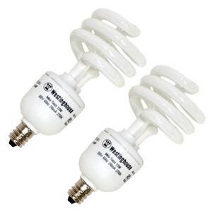 Westinghouse 37948 - 13MINITWIST/CB/27/2PK Twist Candelabra Screw Base Compact Fluorescent Light (120v Mini Twist)