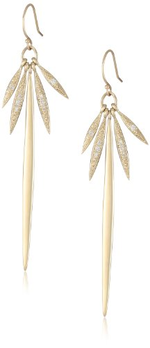 Mizuki 14Kt Wire Five Icicle Diamond Earrings (.09Ct)