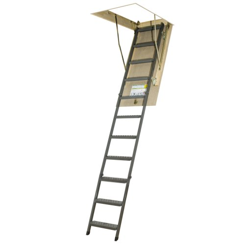 FAKRO OWM 25inx54in Basic Metal Non-Insulated Attic Ladder 300lbs 10ft 1in by FAKRO
